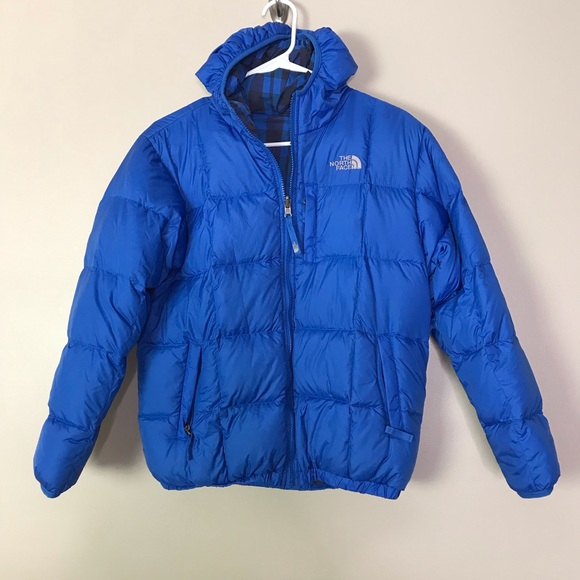 dfb08c39e Boys North Face Royal Blue Reversible Puffer Coat